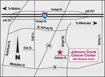 map of UW Johnson Creek location